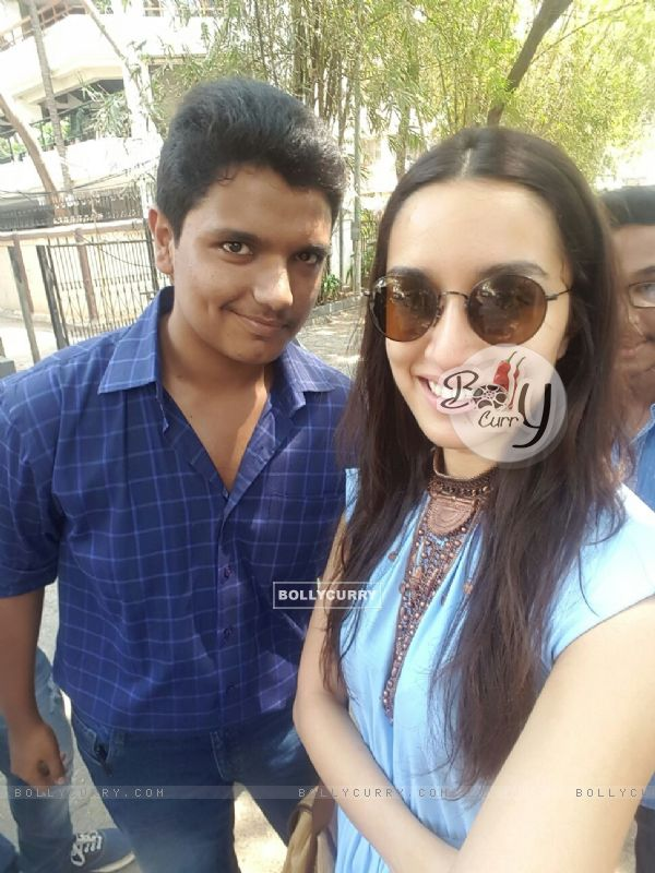 Shraddha Kapoor snapped on occasion of her birthday with fans