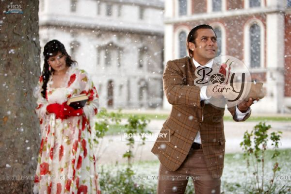 A still image of Salman and Zarine