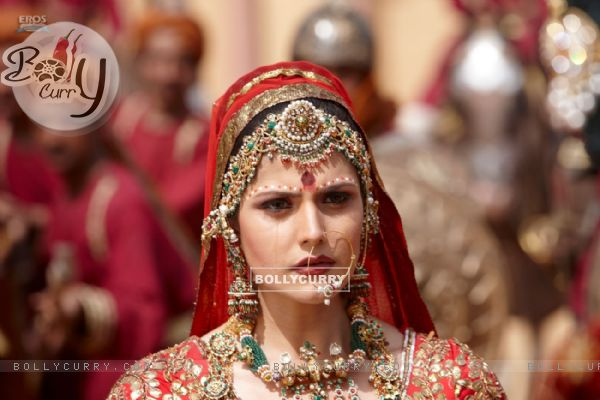 Zarine Khan looking worried (39878)