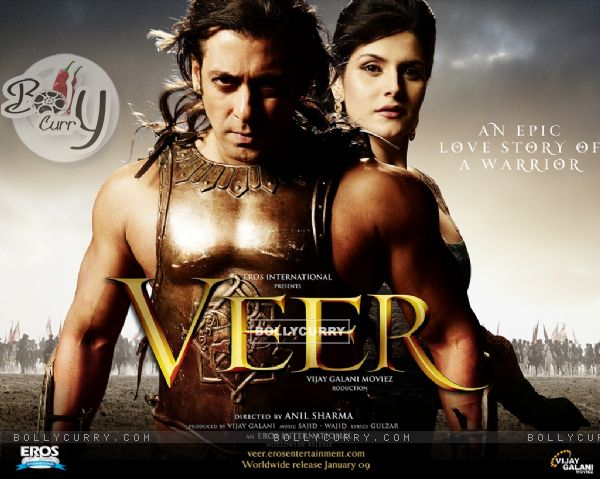 Poster of Veer movie with Salman and Lisa (39881)