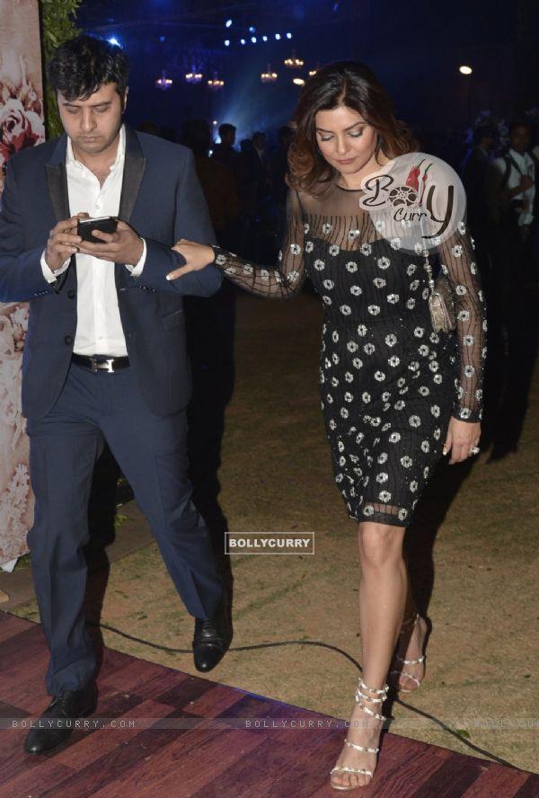 Sushmita Sen snapped with Ritik