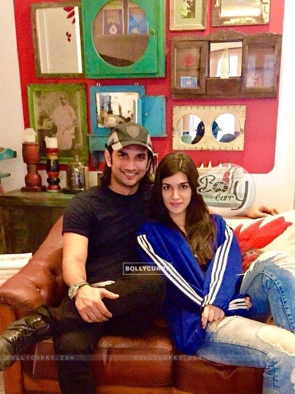 Kriti Sanon with Sushant Singh Rajput