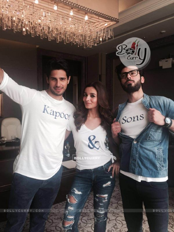 Sidharth Malhotra, Alia Bhatt and Fawad Khan for Kapoor & Sons