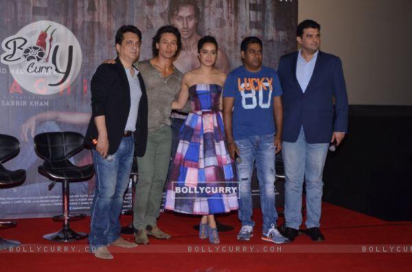 Sajid Nadiadwala, Shraddha Kapoor, Siddharth Roy Kapur and Tiger Shroff at Baghi Trailer Launch