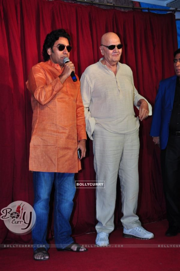 Actor Ashutosh Rana with Prem Chopra at Udanchoo Film Promotions