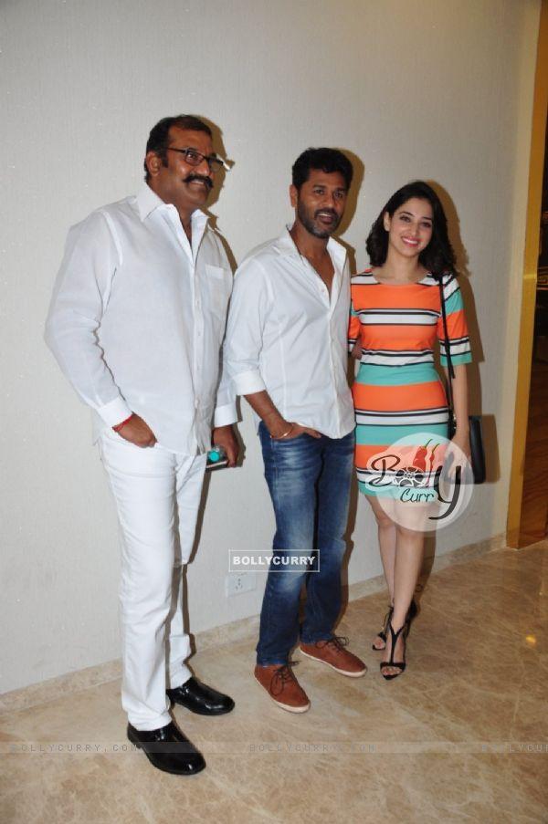 Tamannaah  Bhatia and Prabhu Deva at Special Screening of a Telugu Film