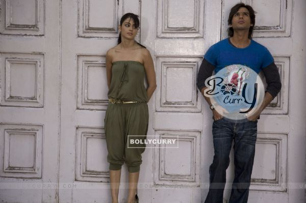 Shahid Kapoor and Genelia Dsouza looking tensed