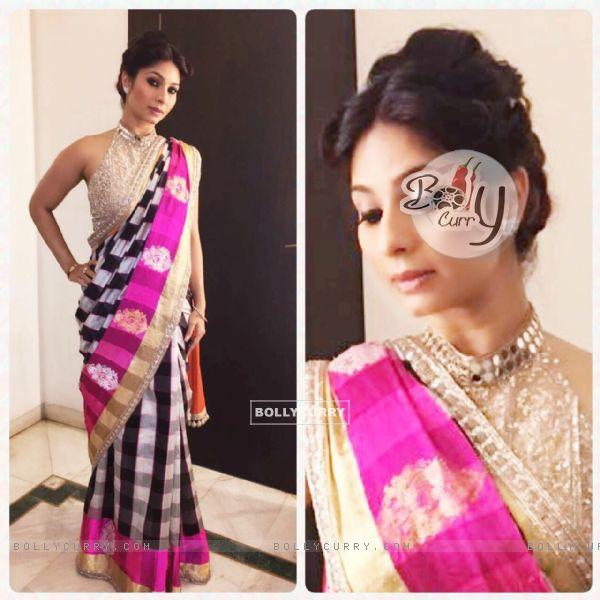 Tanishaa Mukerji in Manish Malhotra at the Colors Gudi Padwa party