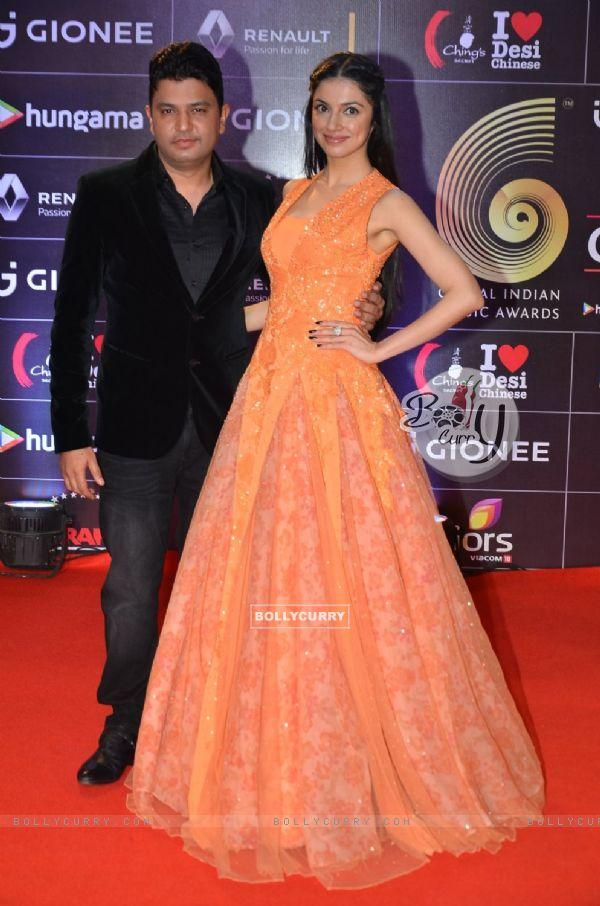 Bhushan Kumar and Divya Khosla Kumar at COLORS GiMA AWARDS 2016