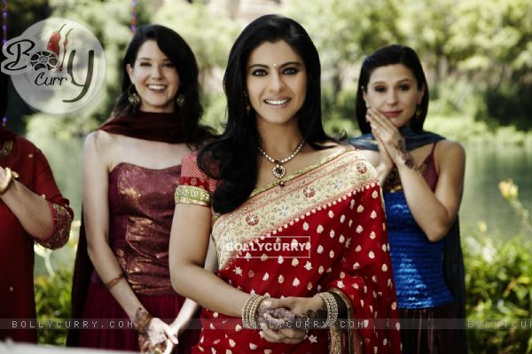Kajol looking marvellous in red sari
