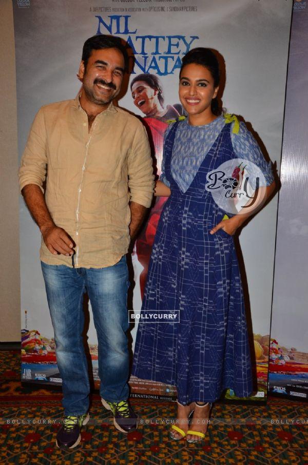 Pankaj Tripathi and Swara Bhaskar at the Promotions of 'Nil Battey Sannata'