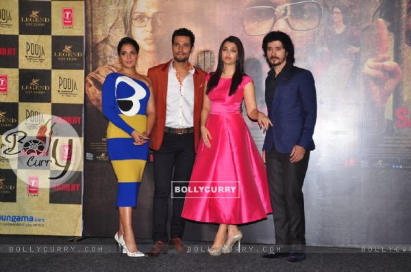 Cast of 'Sarabjit' at its trailer launch (403341)