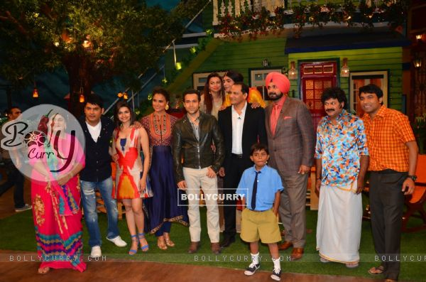 Cast of Azhar with Real Azharuddin for Promotions of film on 'The Kapil Sharma Show'