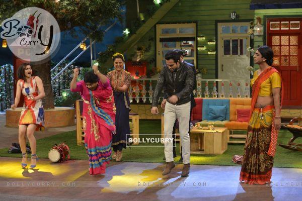 Cast of 'Azhar' Shakes a leg with Kiku Sharda during Promotions of film on 'The Kapil Sharma Show'