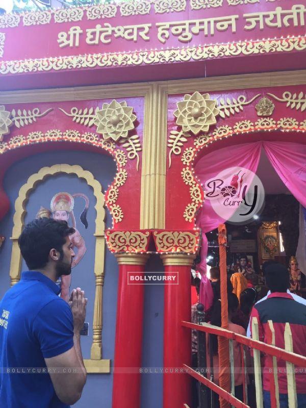 Akshay Oberoi at Shree Ganteshwar Hanuma Jayanti Celebration