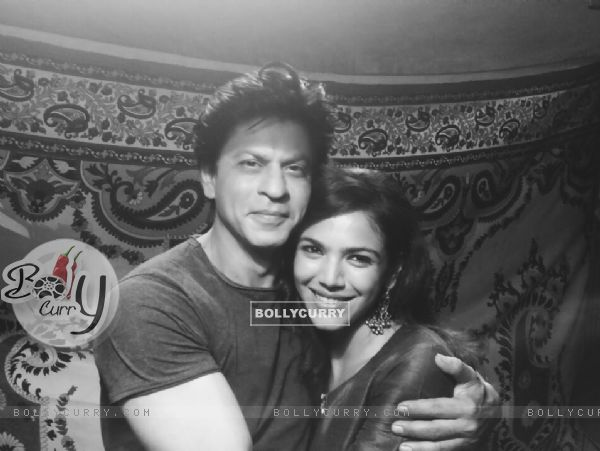 Shriya Pilgaonkar with Shah Rukh Khan