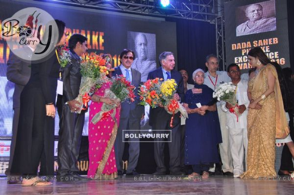 Sanjay Khan, Ratan Tata and Shabana Azmi at Dadasaheb Phalke Award