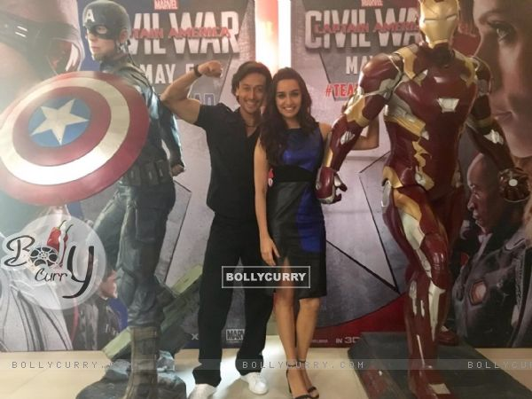 Tiger Shroff as Captain America and Shraddha Kapoor as Ironman for Captain America: Civil War