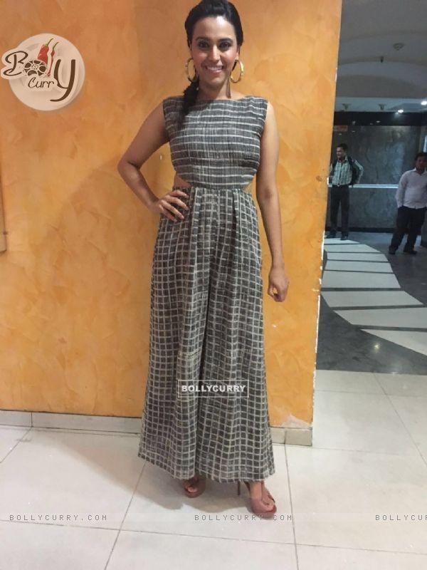 Swara Bhaskar at Promotions of Nil Battey Sannata