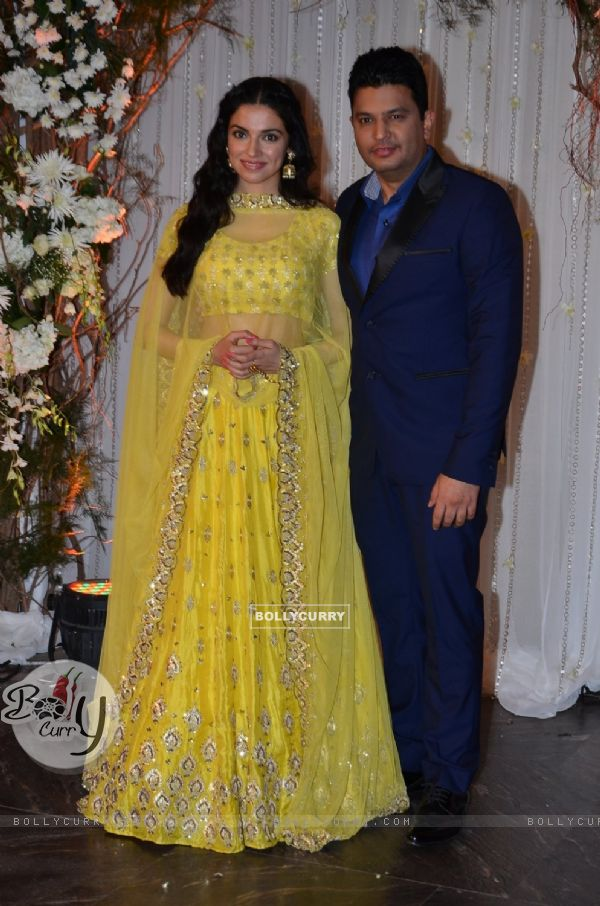 Divya Khosla and Bhushan Kumar at Karan - Bipasha's Star Studded Wedding Reception