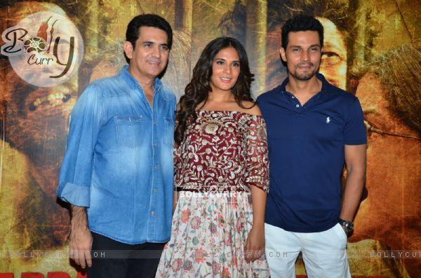 Richa Chadda, Omung Kumar and Randeep Hooda at Song Launch of Sarabjit