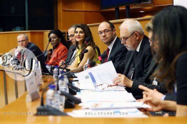 Jacqueline Fernandez at the European Parliament