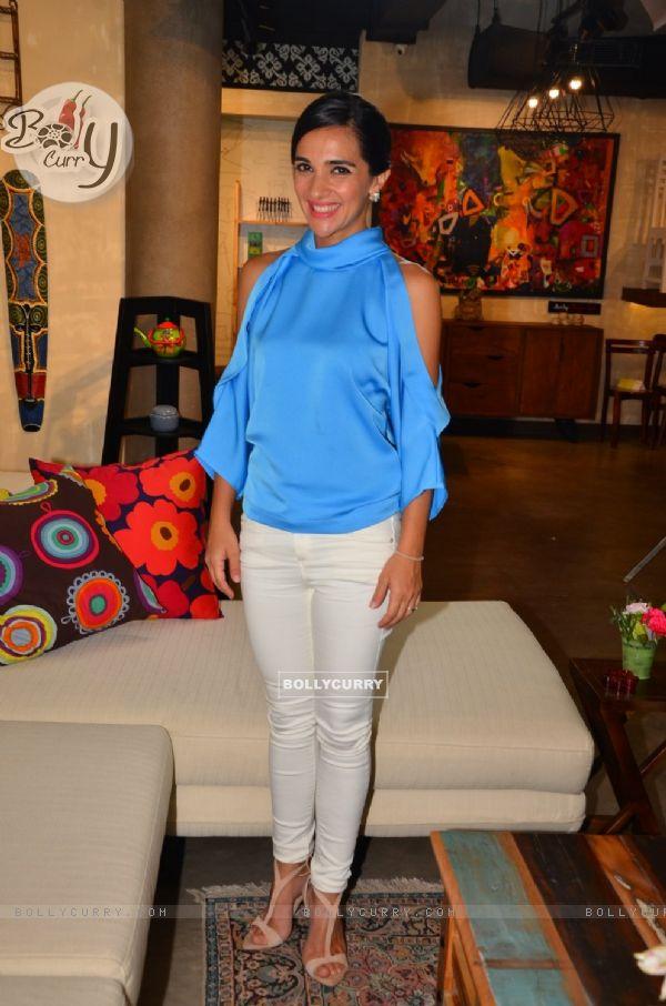 Tara Sharma on the sets of her show