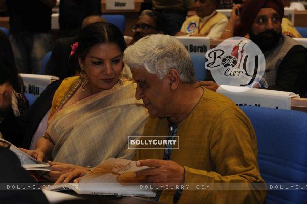 Shabana Azmi and Javed Akhtar at National Award Ceremony