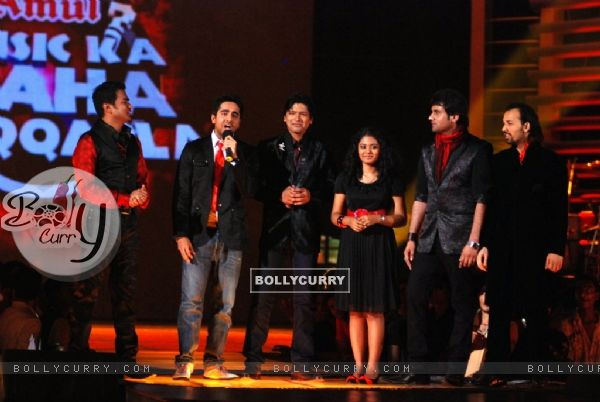 Shaan captain with his team - ''Shaan Strikers'' for Star Plus Music Ka Maha Muqabla