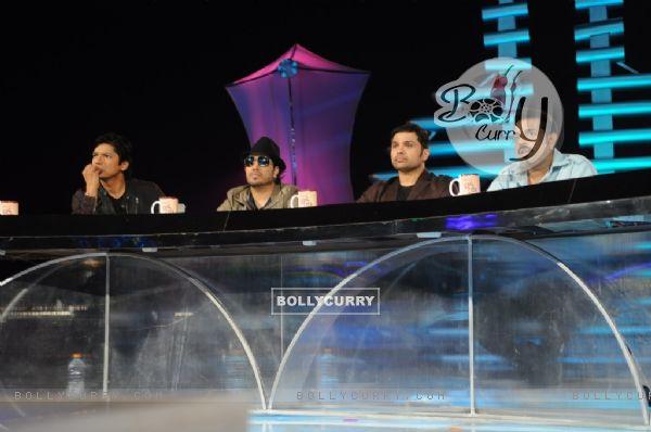 Shaan, Mika, Himesha and Shankar at Music Ka Maha Muqqabla