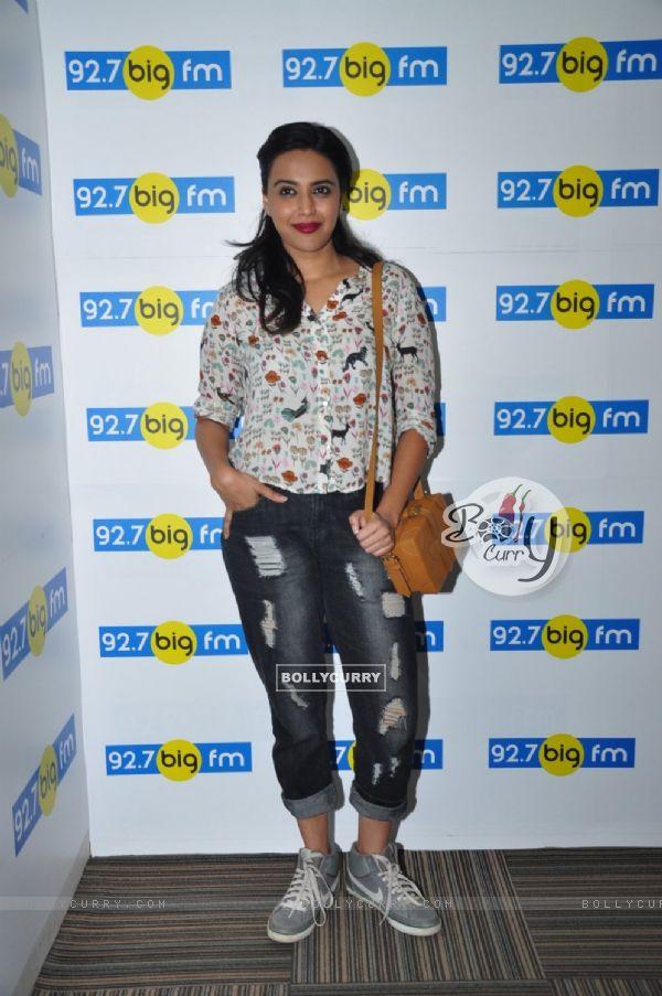 Swara Bhaskar at 92.7 Big FM Office
