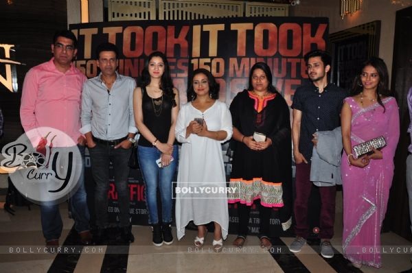 Manoj Bajpayee, Richa Panai and Divya Dutta at Special Screening Of 'Traffic'