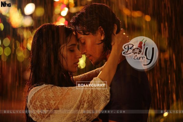 A Still of Shraddha Kapoor and Tiger Shroff from Baaghi