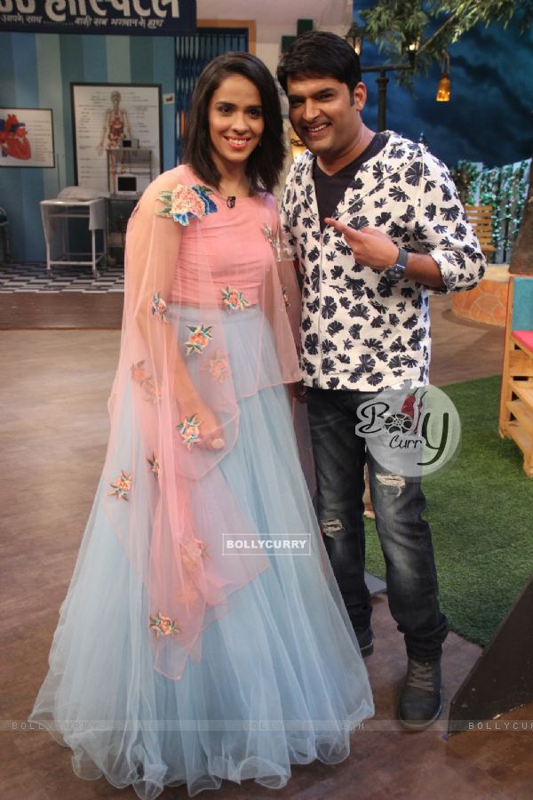 Saina Nehwal with Kapil Sharma on The Kapil Sharma Show