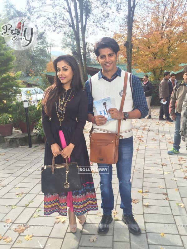 Karanvir Bohra with Priya Bannerjee