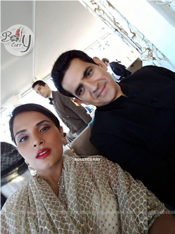 Richa Chadda and Omung Kumar at Cannes Film Festival