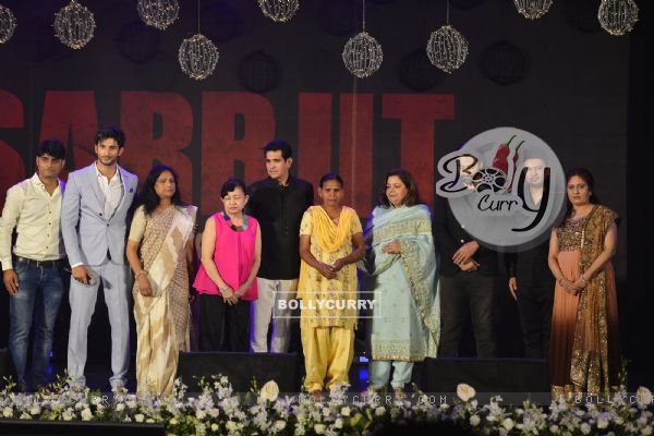 Omung Kumar, Jackky Bhagnani and Bhushan Kumar at Music Launch of 'Sarabjit'