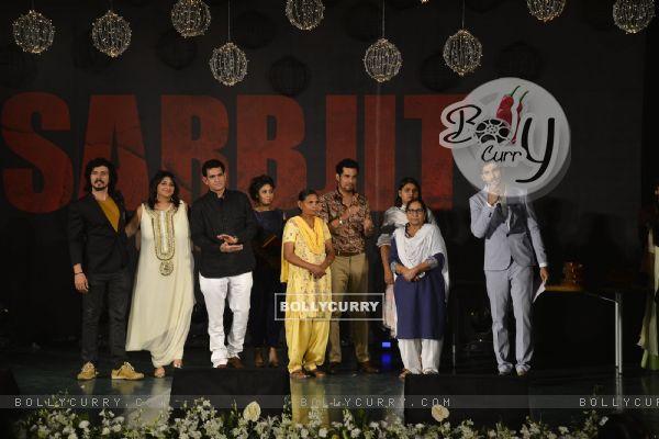 Darshan Kumar, Omung Kumar, Sunidhi Chauhan and Randeep Hooda at Music Launch of 'Sarabjit'