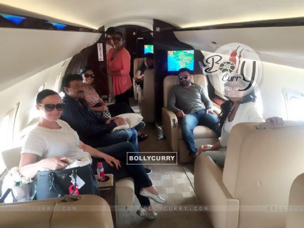 Ram Gopal Varma with Sachin Joshi, Lisa Ray,Usha Jadhav
