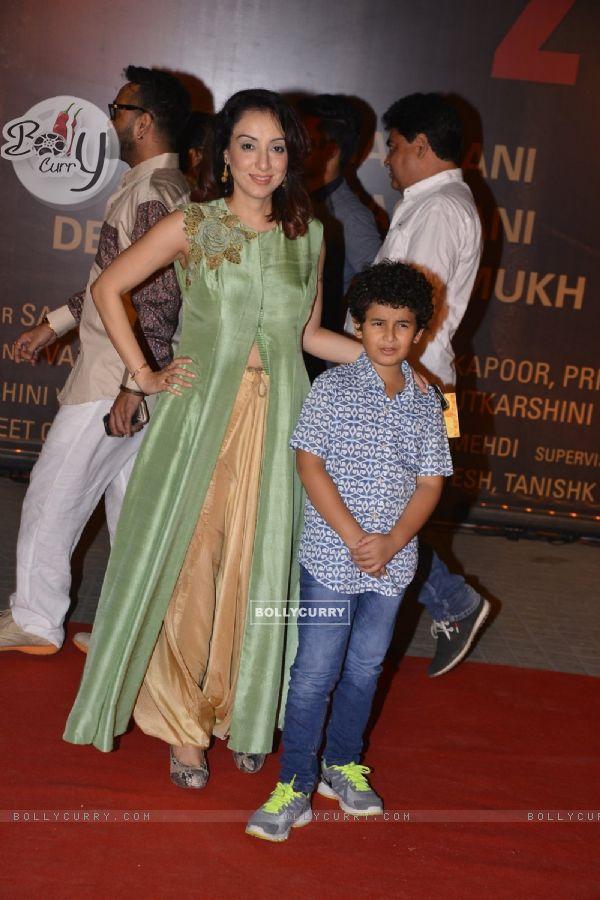 Sonu Niigam's Wife Madhurima and Son Neevan Niigam at Special Premiere of 'Sarabjit' (406354)