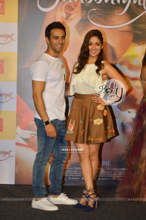 Pulkit Samrat and Yami Gautam at Trailer Launch of 'Junooniyat'