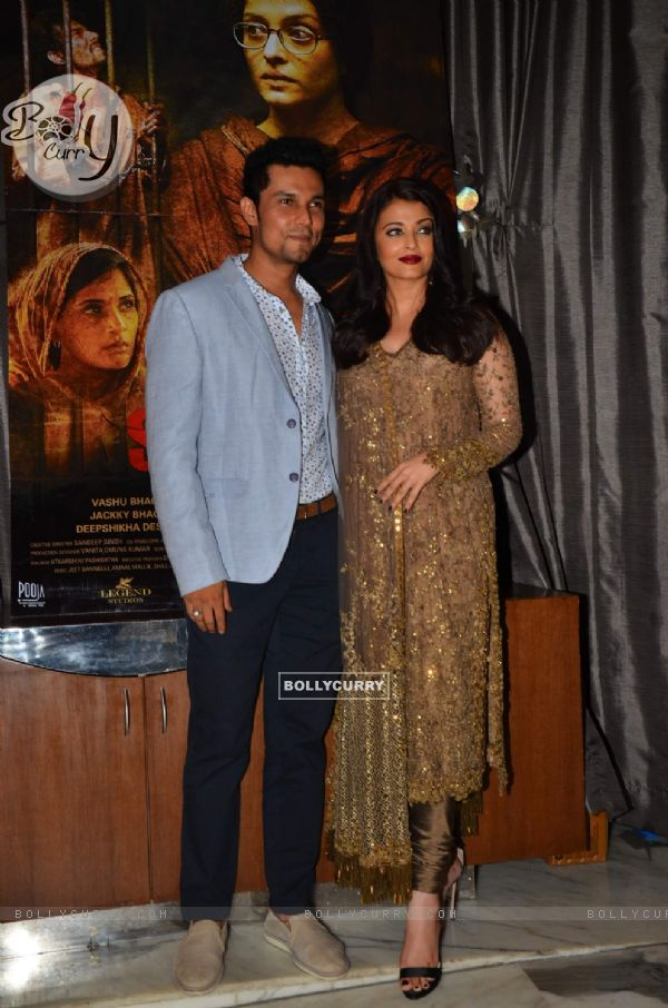Randeep Hooda & Aishwarya Rai Bachchan at Success Party of 'Sarabjit' (407069)