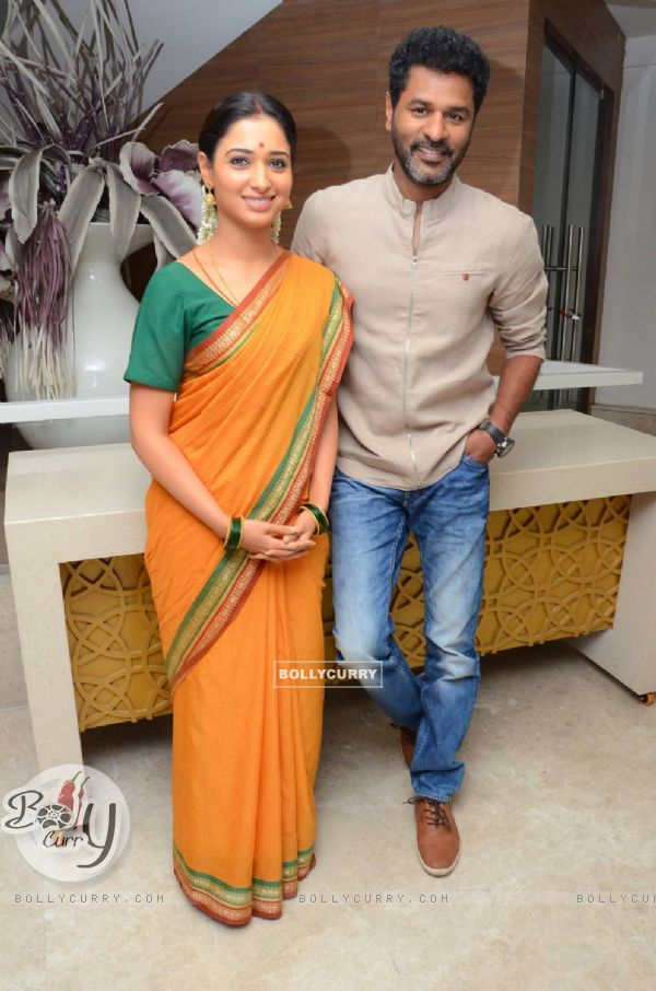 Prabhu Deva with Tamannaah Bhatia at Launch of the film 'Abhinetri'