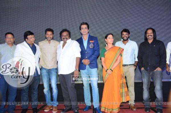 Prabhu Deva, Tamannaah Bhatia and Sonu Sood at Launch of the film 'Abhinetri'