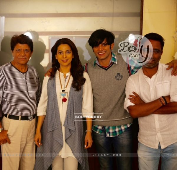 Juhi Chawla with Karanvir Bohra