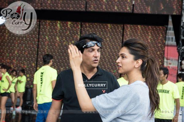 Shiamak Davar with Deepika Padukone fo IIFA