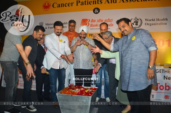 Rohit Shetty, Shankar- Ehsaan-Loy and Vivek Oberoi at Cancer Patients Aid Association's Event