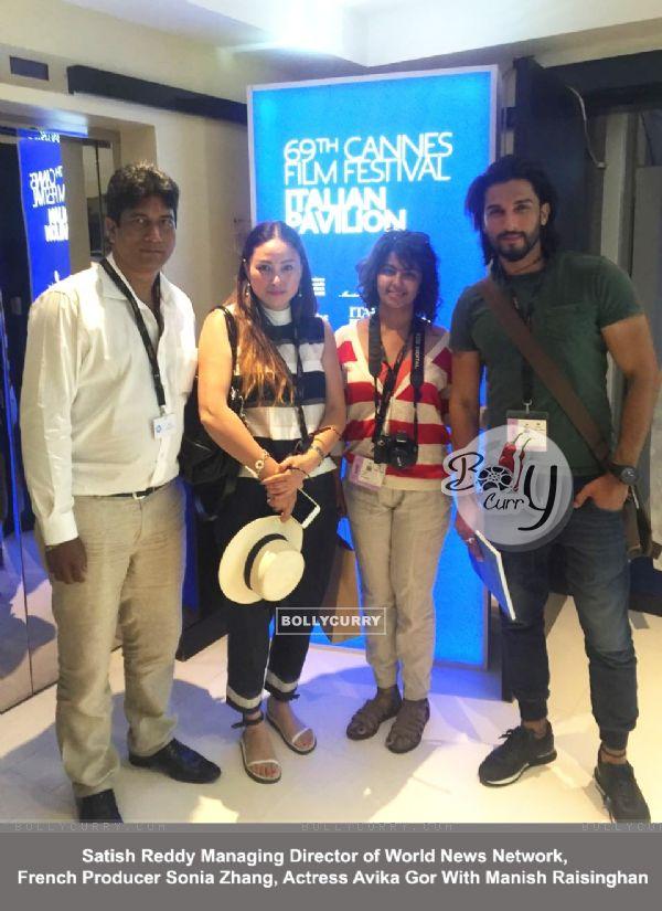 Manish Raisinghan and Avika Gor 69th Cannes Film Festival, Italian Pavilion