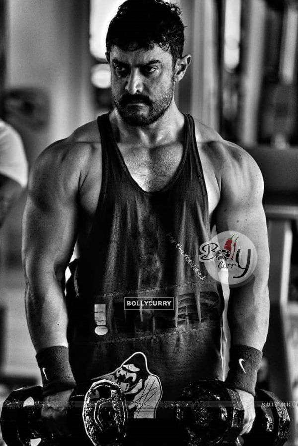 Aamir Khan's musuclar look in Dangal (408922)