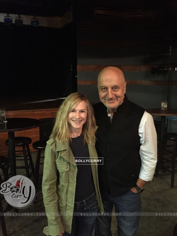 Anupam Kher with Holly Hunter